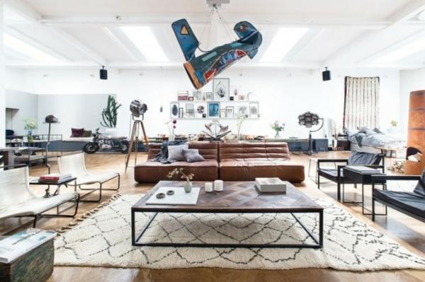 traumhäuser Amsterdam Loft wohnzimmer möbel