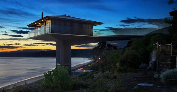 traumhäuser Fairhaven Beach House australien F2 Architecture sonnenuntergang