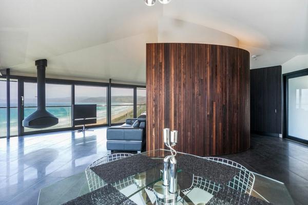 traumhäuser Fairhaven Beach House meerblick F2 Architecture esszimmer