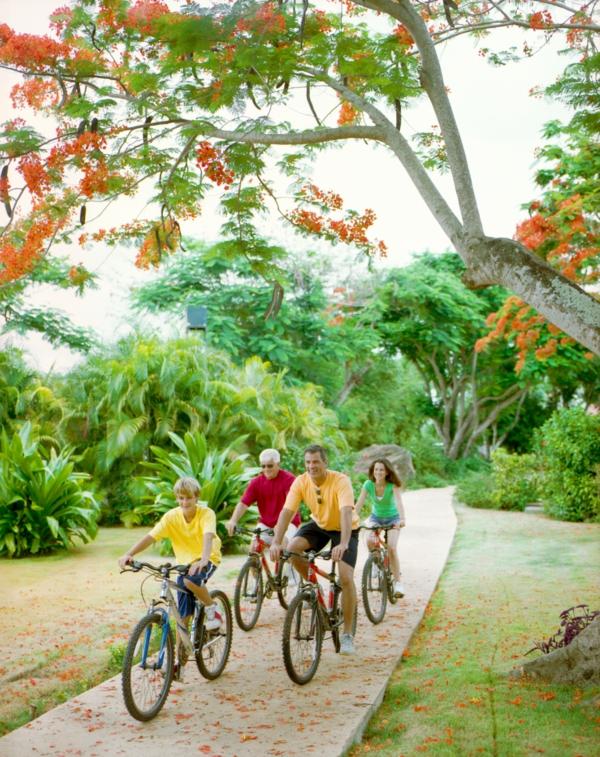 traumurlaub karibik casa de campo fahrrad fahren