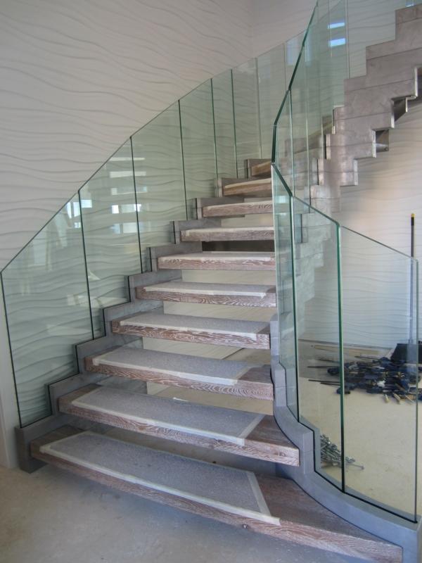 treppe glas holz florida treppenhaus