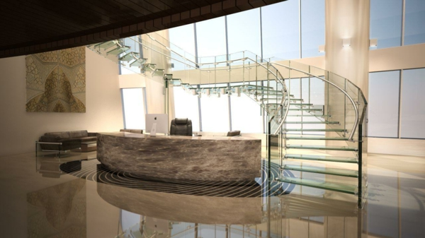 treppe glas siller fly business design