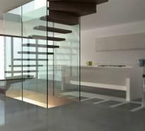 Stilvolle Treppen und Treppenhäuser aus Glas von Siller