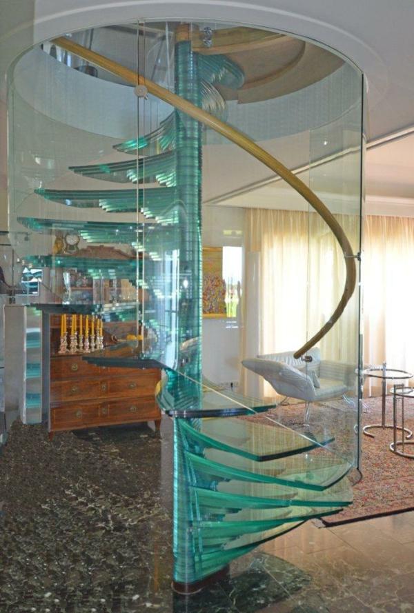 treppe glas spirale siller treppenhaus