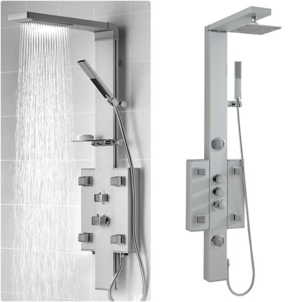 moderne duschpaneele badeinrichtung badmöbel set