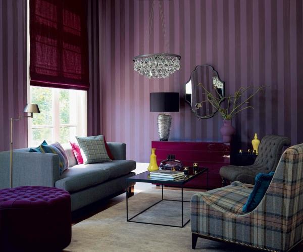 wohnzimmer retro stil:vintage sessel retro stil wohnzimmer raffrollo