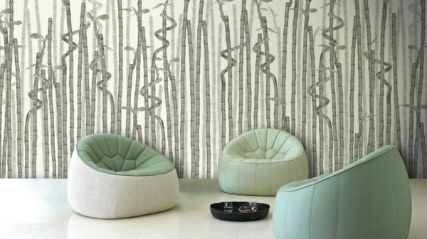 vliestapeten bambushalme schwarz weiß