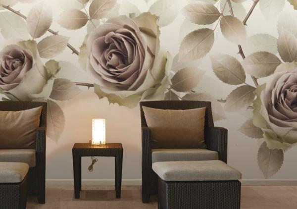 vliestapete rosen muster romantic glamora vliestapeten - Vliestapeten Muster