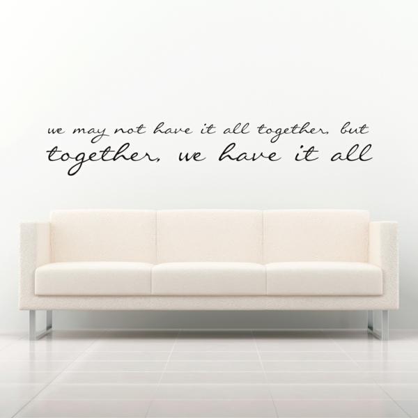 wandsprüche schöne wandgestaltung weißes sofa schöne dekoideen