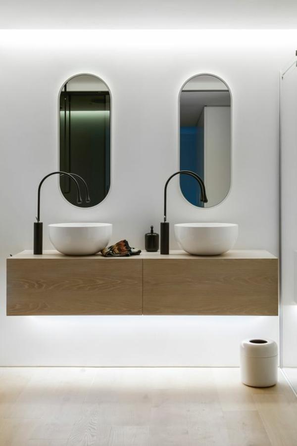 Doppelwaschtisch holz modern  Badezimmer Design Holz | gispatcher.com