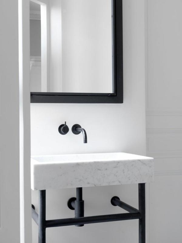 waschbecken armatur waschtischarmaturen badezimmerarmatur schwarz spiegel