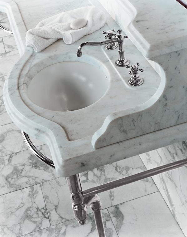 waschtischarmaturen badeinrichtung marmor platte waschbecken armatur