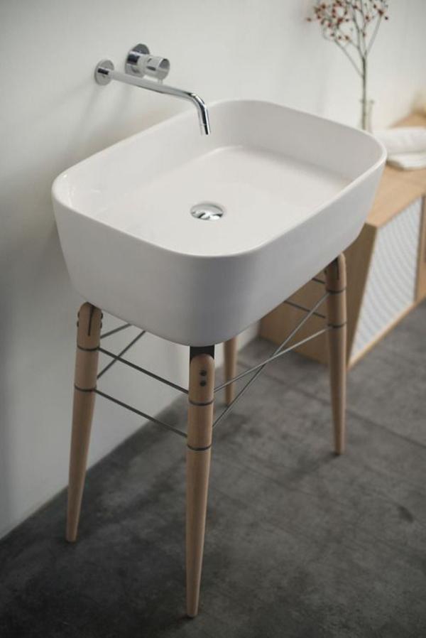 waschtischarmaturen modern badmöbel ideen waschbecken armatur edelstahl
