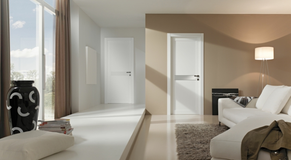 weiße innentür gavisio design schlicht holz wohnzimmer