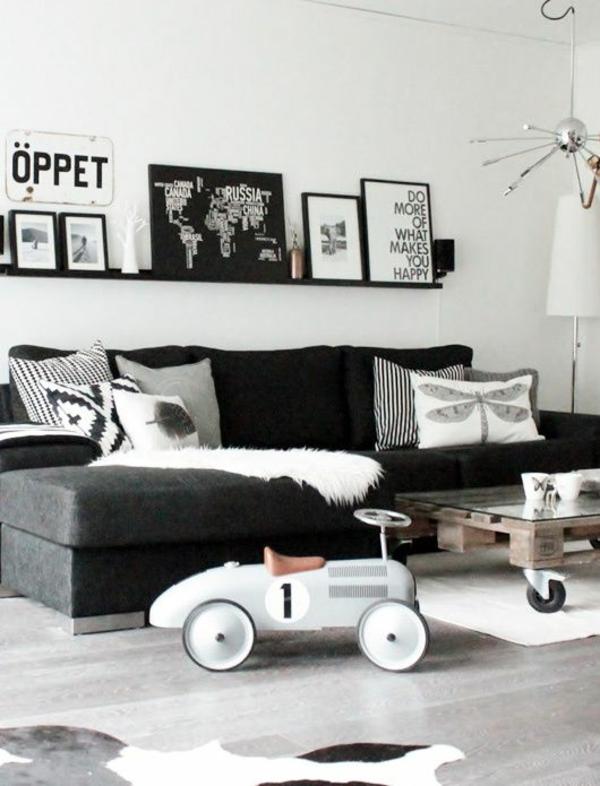 wohnzimmerfenster deko - Wohnzimmer Schwarz Grau