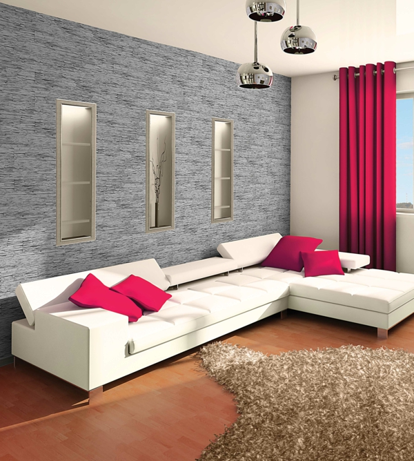 Beautiful Wohnzimmer Weies Sofa Krasse Dekokissen With Dekokissen Wohnzimmer
