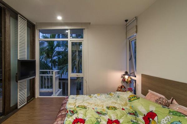 AHL architects wohnung schlafzimmer wandgestaltung