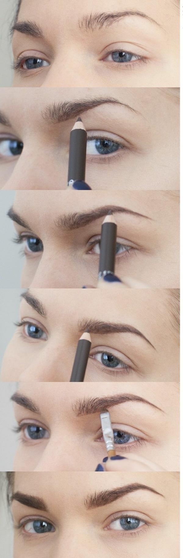 Augen Make Up Schritt für Schritt augen schminken augenbrauen
