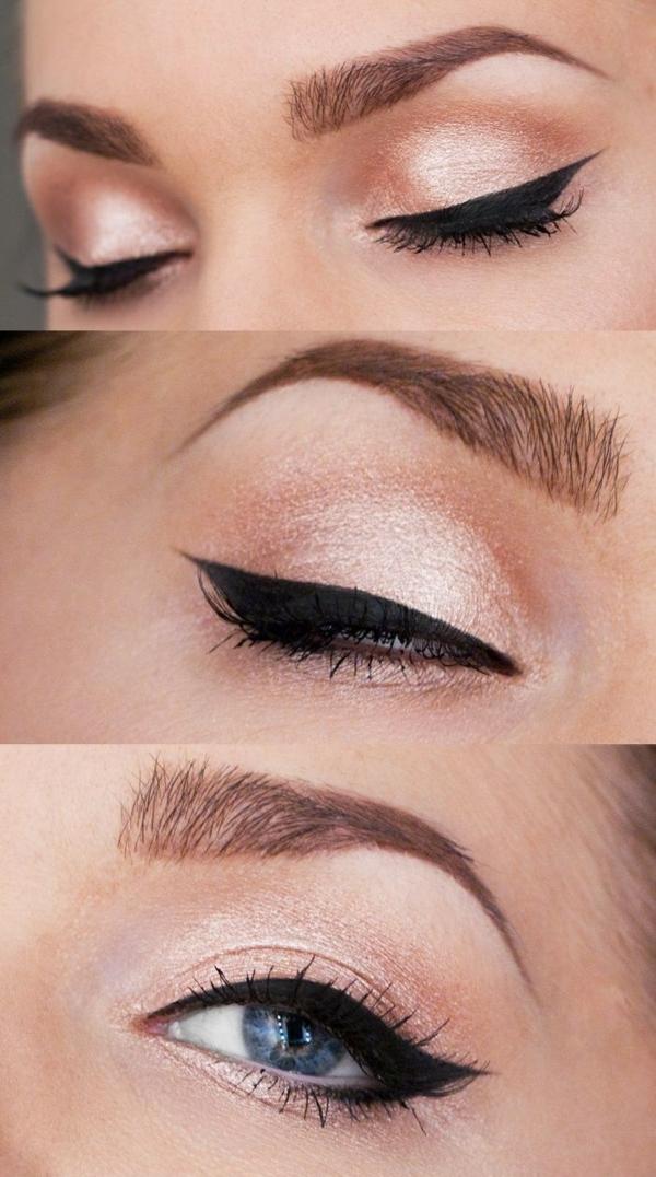 Augen Make Up Schritt für Schritt augen schminken kajal eyeliner