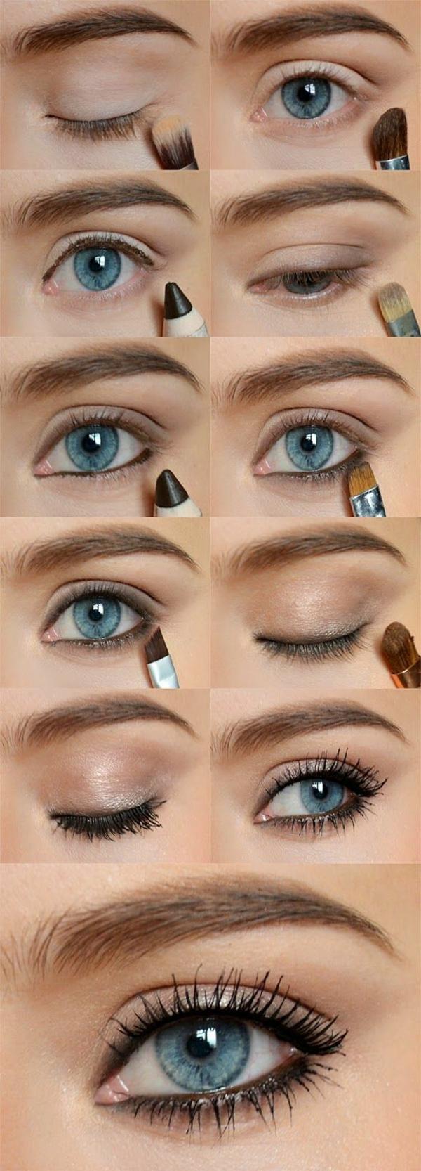 Augen Make Up Schritt für Schritt augen schminken schminktipps