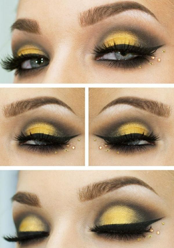 Augen Make Up Schritt für Schritt lidschatten auftragen
