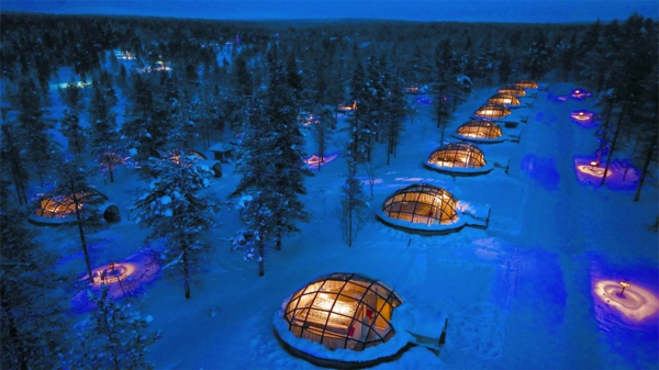 Kakslauttanen Igloo Village finnland luxushotels design ferienhaus