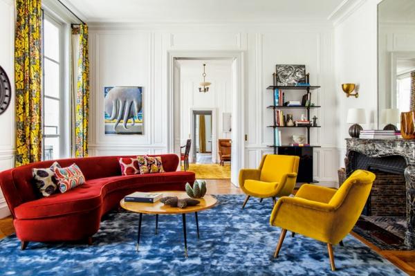 Kreative Wohnideen vom innendesigner farbgestaltung ideen Luis Laplace