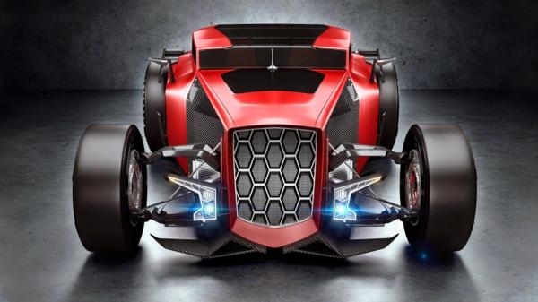 autowelt Lamborghini automodelle Rat Rod hotrods concept car rot