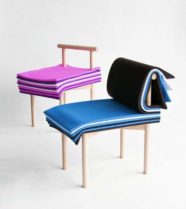 Produktdesign designer stühle holz stoff page chair
