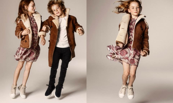 aktuelle modetrends kindermode wintermode mantel burberry