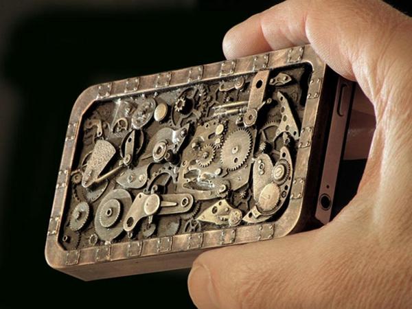 ausgefallene ideen telefon etui uhr mechanismus