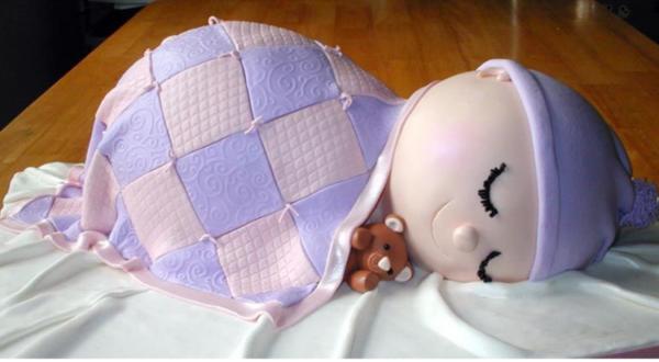 ausgefallene torten inspirierende ideen schlafendes kind