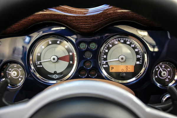 wagen morgan aero tachometer rund