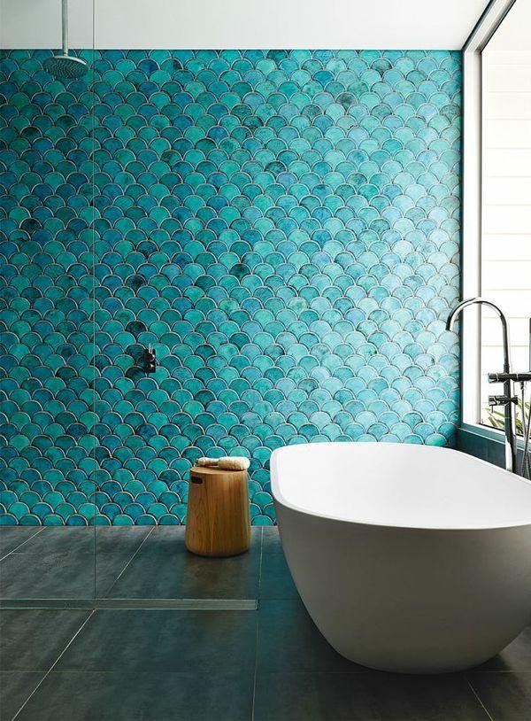 badezimmer gestalten einrichtungsideen badfliesen blau