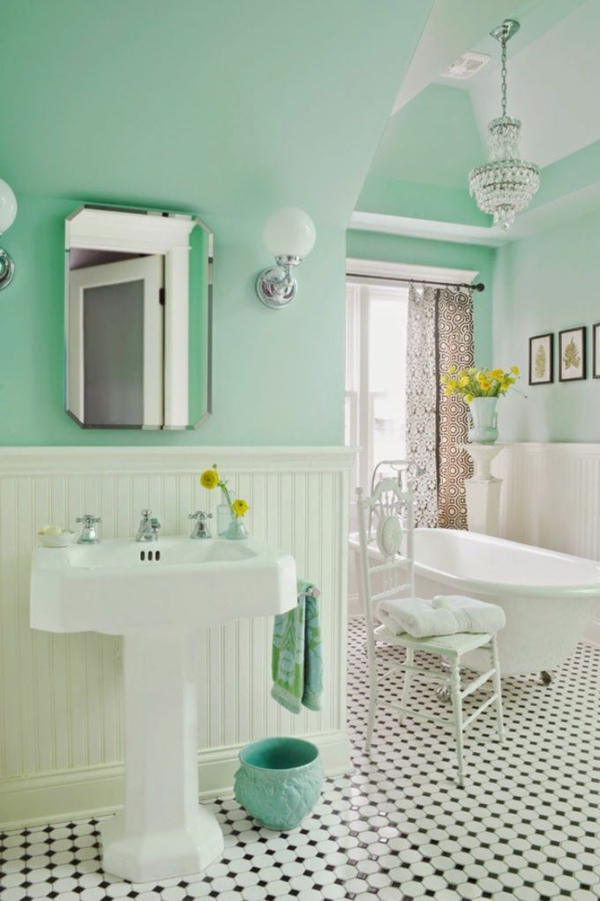Badezimmergestaltung ideen die gerade voll im trend liegen - Badezimmer 50er ...