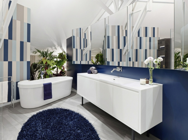 badezimmergestaltung ideen modern moderne badeinrichtung in blau