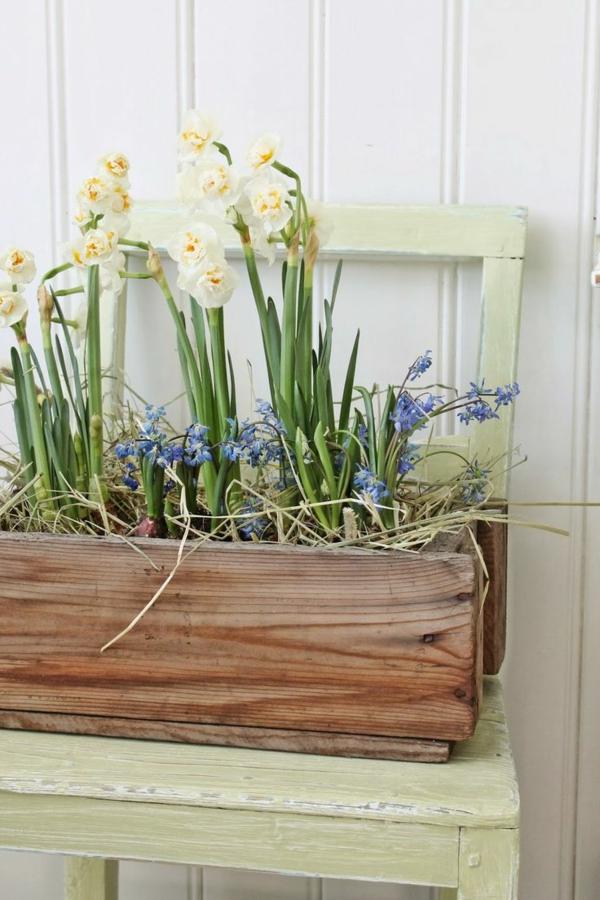 frülingsblumen balkon gestalten bepflanzen dekoideen frühling