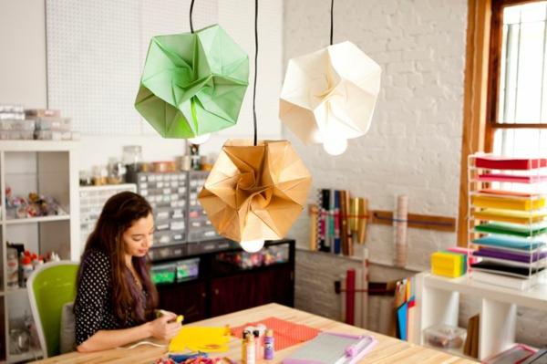 beleuchtung origami lampenschirme farbig frisch