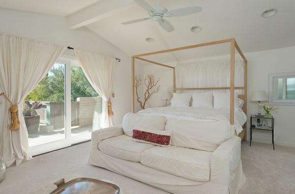 besorgen sie sich blickdichte vorh nge in wei f r ihr. Black Bedroom Furniture Sets. Home Design Ideas