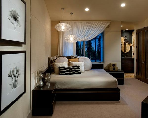 vorhänge schlafzimmer dekokissen