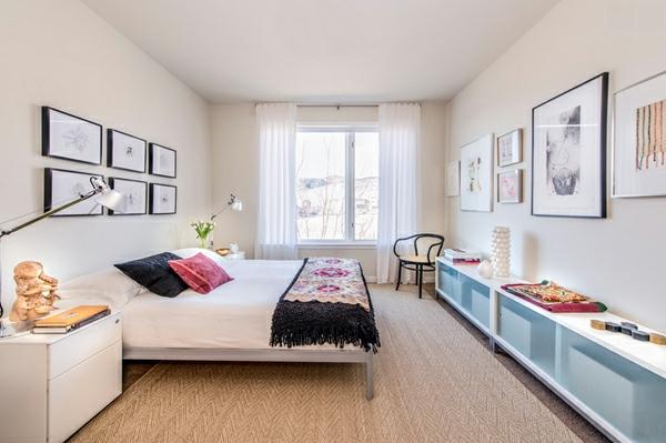 blickdichte vorhänge schlafzimmer weiß