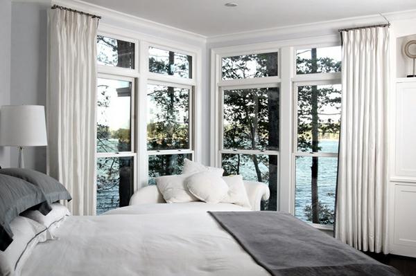 blickdichte vorhänge weiß schlafzimmer