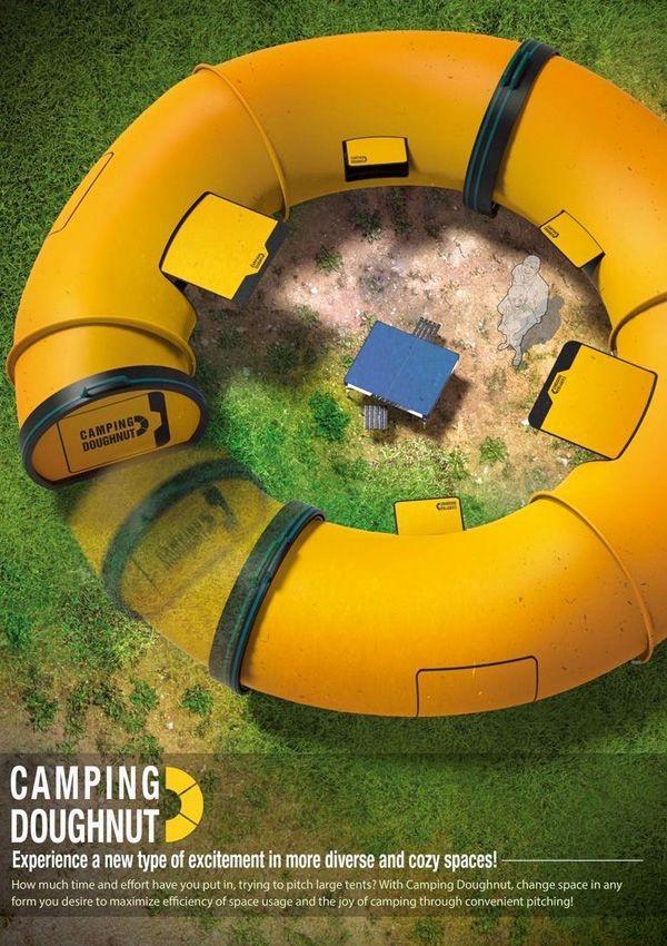 camping zelte Camping Doughnut rundform tunnel