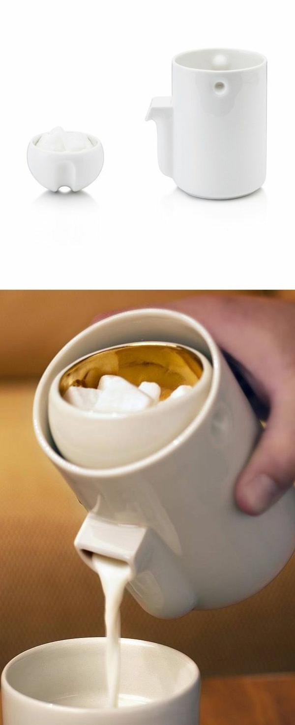 cleveres Produktdesign design ideen milchkanne zucker kaffee