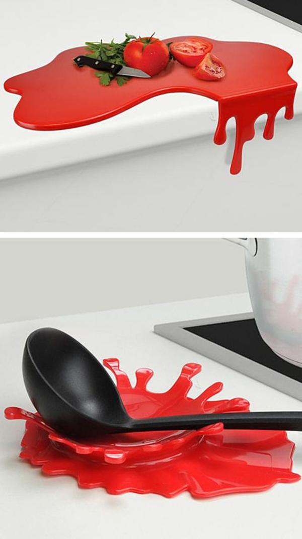 cleveres Produkt design design ideen schneidebrett rot