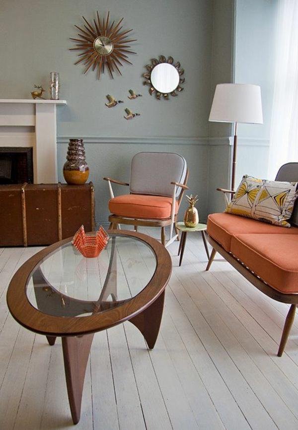 couchtisch vintage design oval elegant