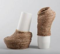 Pflanztöpfe und Deko Vasen, die untypisch aussehen