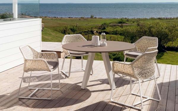 designer gartenmöbel außenmöbel stühle weiß