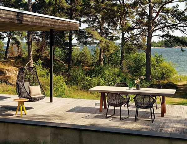 designer gartenmöbel hängesessel stühle esstisch