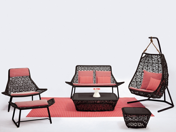 designer gartenmöbel komplettes set